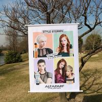 Hanging Personalized Advertising Flags Wind - Resistant Colorful Easy Installation
