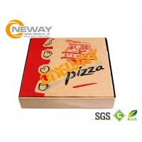 Buy cheap Hand Made Recycle E Flute Printed Food Packaging Boxes , Corrugated Pizza Boxes from wholesalers