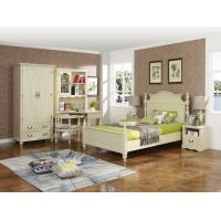 Buy cheap Rubber Wood made Kids/Children/Single white bedroom 1.2/1.4M small bed Space product