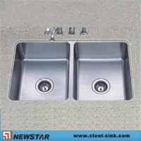 Buy cheap Cupc approve under mount kitchen steel sink from wholesalers
