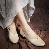 Buy cheap S002 New fresh and simple fairy shoes leather handmade all-match sandals manufacturers one drop from wholesalers