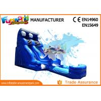 Buy cheap Attractive Blue Cartoon Outdoor Inflatable Water Slides For Kids and Adults from wholesalers