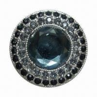 Buy cheap Button, Made of Glass, Zinc Alloy Material, Customized Designs Welcomed from wholesalers