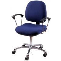 Buy cheap ESD blue fabric chair with handrail from wholesalers