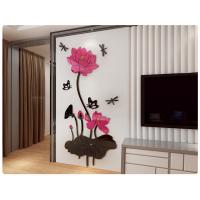 Buy cheap Removable 3D Crystal Acrylic Flower   DIY Wall Sticker Decal Home Decor from wholesalers