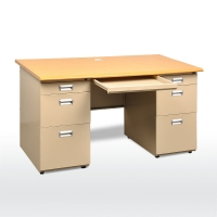 Buy cheap I Shaped 0.6mm 1600mm Length Modern Office Table from wholesalers