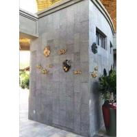 Buy cheap Exterior Wall Polished Granite Tiles High Gloss Grey Color Uniform Structure from wholesalers