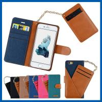 Buy cheap Durable Iphone 6 Plus Cell Phone Leather Cases With Short Chain from wholesalers