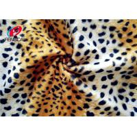 Buy cheap Leopard Printed 144 F 100% Polyester Velvet Fabric Velboa Blanket 240 GSM Customized from wholesalers