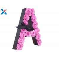 Buy cheap Luxury Rose Gift Acrylic Flower Box A Letter Flower Box With Lid Non - Toxic product