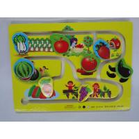 Buy cheap Customized Quality Children Mini Vegetables and Fruits Wooden Toy Slot Car Racing Track from wholesalers