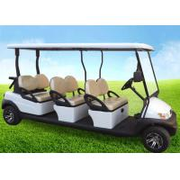 Buy cheap White Four Wheels 6 Person Golf Cart , Road Legal Golf Buggy With Long Roof product