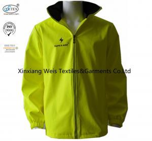 China High Visibility Yellow Flame Retardant Jacket Rain Gear Waterproof 280gsm on sale