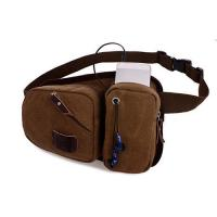 Buy cheap Canvas Application Waist Belt Bags For Women With Three Zippered Pockets from wholesalers