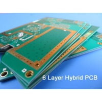 Buy cheap 6 Layer Mixed PCB On 20mil 0.508mm RO4350B and FR-4 with Blind Via for Digital Satellite Receiver from wholesalers