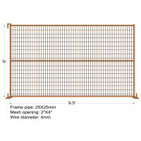 "Buy cheap 6FT X 9.5FT ""VICORIA SECRET"" TEMPORARY FENCE Mesh 2"