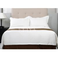 Buy cheap Sateen 100% Cotton Luxury Hotel Bedding Sets 220TC Plain White Single Size or Double Size from wholesalers