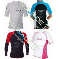 Buy cheap UV50+ Long and short sleeve lycra rash guard from wholesalers