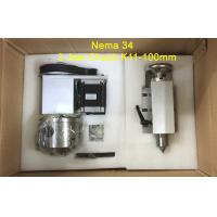 Buy cheap Nema 34 ( 4:1 ) K11-100mm Chuck 3 jaw CNC 4th Axis Kit CNC Dividing Head product