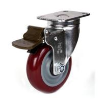 Buy cheap 100mm PU caster product