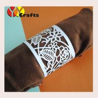 Buy cheap Romantic rose wedding decorative  fancy napkin rings laser cutting from wholesalers
