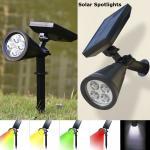 Buy cheap Solar Spotlights Outdoor Waterproof 4 LED Solar Security Landscape Lights Adjustable Solar Garden Light for Yard from wholesalers