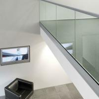 Buy cheap Indoor/outdoor  Frameless U Channel Glass Balcony Railing Designs from wholesalers