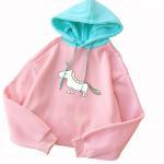 Buy cheap Autumn Winter New Fashion Women Casual Long Sleeve Fleece Patchwork Hoodie Sweatshirt from wholesalers