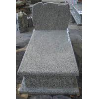 Buy cheap Durable G435 Light Grey Granite Headstone , Pet Granite Headstones Antibacterial from wholesalers