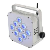 Buy cheap 9*15w RGBWA Wireless Dj Lights , Led Flat Par Light WIFI App Control Model from wholesalers
