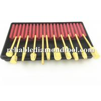 Buy cheap Gold Plated Dental High Speed Steel Drill Bits 10 PCS / Set  2.34 mm Shank from wholesalers