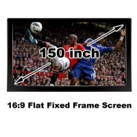 Buy cheap Black Velevt Flat Fixed Projection Screen150 Inch Matt White DIY Home Cinema Screens 3D from wholesalers