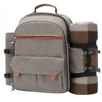 Buy cheap 4 Shoulder Strap Picnic Backpack With Blanket 12.5'' x 8.6'' x 15.6'' from wholesalers