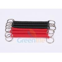 Buy cheap Promotional 2.5mm Coiled Key Lanyard Red / Black Retractable With Nylon String from wholesalers