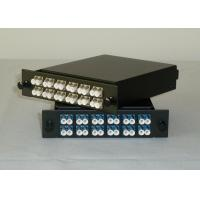 Buy cheap Simplex / Duplex LC MPO Fiber Optic Cassette Patch Panel With RoHS / SGS from wholesalers