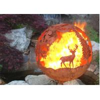 Buy cheap Corrosion Stability Corten Steel Sphere Fire Pit Deer For Garden Decoration product