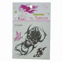 Buy cheap Temporary/Removable Skin Tattoo Stickers, Eco-friendly, Can Last for Several product