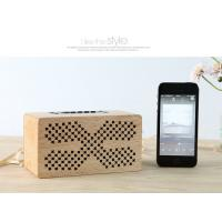 Buy cheap Insert Card Natural Wood Speakers 10M Working Range Bluetooth Audio Speaker from wholesalers