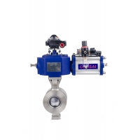 Buy cheap NPS 10 Inch Flange / Wafer Type Pneumatic Actuator Segment Ball Valve from wholesalers
