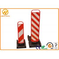 Buy cheap ABS Traffic Delineator Post , Collapsible Panel Bollard Rubber Base Reflective Post Markers from wholesalers