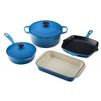 Buy cheap Sunboat cast iron color painted enamel cookware set:stock pot, pan, tray from wholesalers