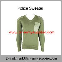 Buy cheap Wholesale Cheap China Military Wool Acrylic Polyester Army Green Police Sweater from wholesalers