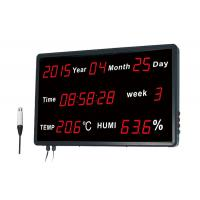 Buy cheap Indoor Thermometer Humidity Monitor / Digital Display Thermometer Clock Digital from wholesalers