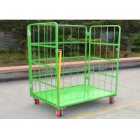 Buy cheap Folding Stackable Wire Mesh Cage , Wire Mesh ContainerRoll Trolley For Transport from wholesalers