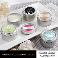 Buy cheap Chemical Free Scented Luxury Soy Candles , Personalised Tin Candles For Bathroom from wholesalers