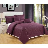 Buy cheap Solid Quilts Royal 5pcs Embossed Quilt Set Ultrasonic Quilts Soft Microfiber Fabric from wholesalers
