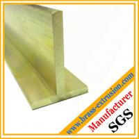 Buy cheap leaded brass T shape profiles extruded brass Tees from wholesalers