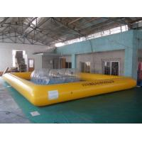 Buy cheap Kids and Adult large inflatable swimming pools water sports games , yellow or blue from wholesalers