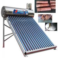 Buy cheap Pre - Heat Non Pressurized Solar Water Heater Color Steel Material With Aluminum Frame from wholesalers