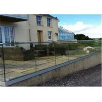 Buy cheap Exterior aluminum u channel glass balustrade railing hardware Exterior from wholesalers